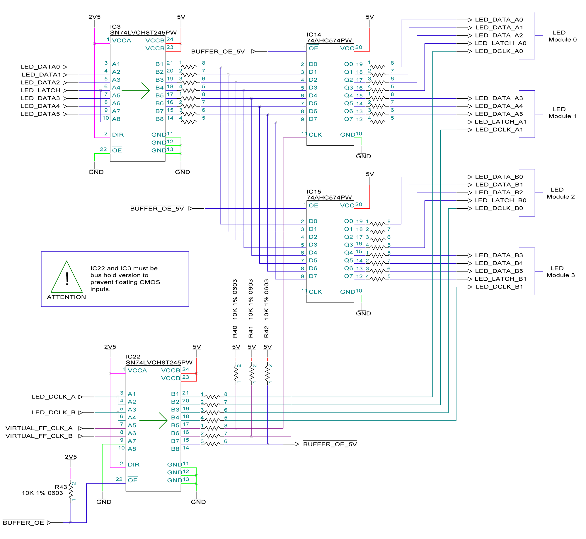 Tessera R2 Technical Reference Manual Figure 2 Schematic Of The Led Driver Design Note This Is For Pwm Enabled Ics Static Type Latch Signal Should Not Be Split Using Flip Flops